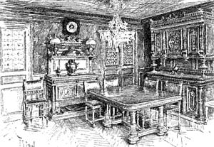 The Dining-Room in M. Flammarion's Paris Home