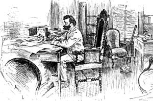 Camille Flammarion in his Study