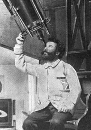 Flammarion at his Telescope