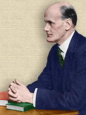 Photo of Walter Fletcher seated at desk - upper body - colorization (only) © todayinsci.com