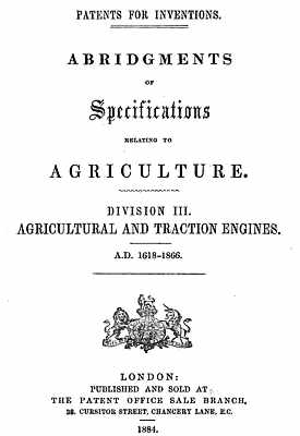 Title Page of Patent Abridgments Book