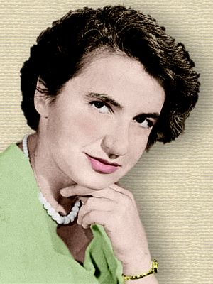 Photo of Rosalind Franklin - head and shoulders - colorization (only) © todayinsci.com