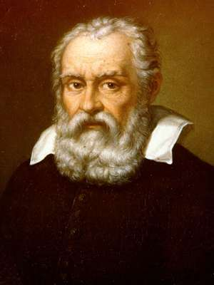 Galileo Galilei portrait by Domenico Cresti da Passignano (or Passignani) - upper body