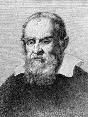 Galileo Galilei, Engraving, head and shoulders