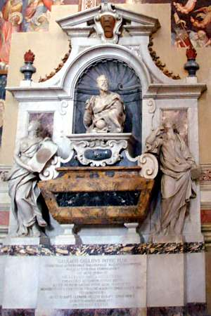 Photo of Monument to Galileo Galilei, inside Santa Croce church, in Florence, Italy