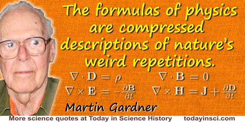Martin Gardner quote: Mathematics, a creation of the mind, so accurately fits the outside world. … [There is a] fantastic amount