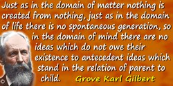Grove Karl Gilbert quote: The mental process by which hypotheses are suggested is obscure. Ordinarily they flash into consciousn