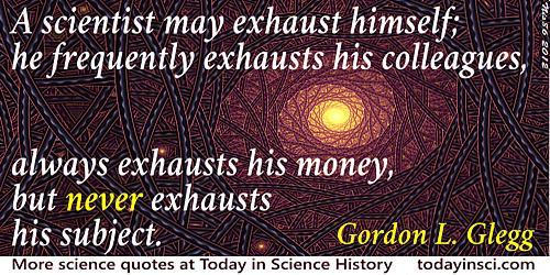Gordon Lindsay Glegg quote