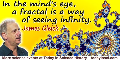 James Gleick quote A fractal is a way to see infinity