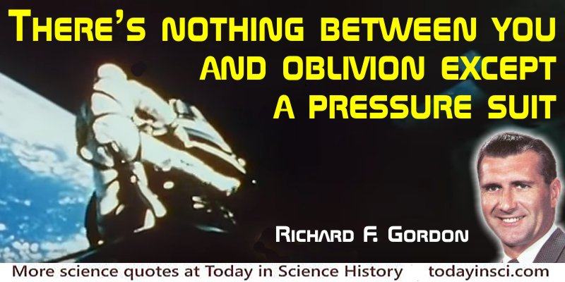 Richard F. Gordon quote Nothing between you and oblivion