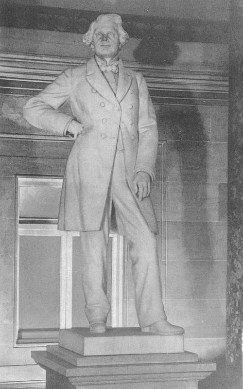 Statue of Dr. John Gorrie in Statuary Hall of the Capitol of the United States - full body