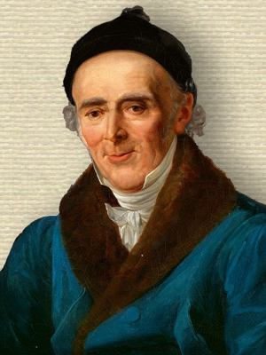 Portrait of Samuel Hahnemann, upper body, facing forward