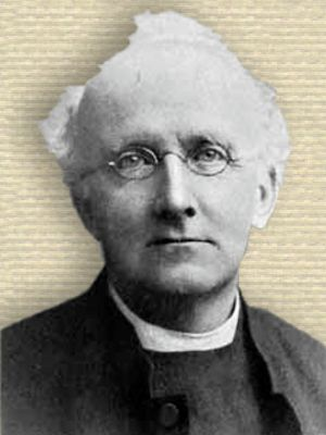 Photo of Samuel Haughton, head and shoulders, facing front, white hair