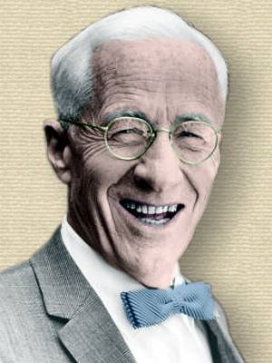 Photo of Joel H. Hildebrand. Colorization by todayinsci.