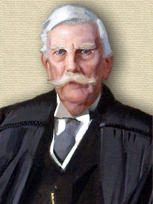 Portrait of Oliver Wendell Holmes, Jr. - head and shoulders in judge's gown