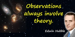 Edwin Powell Hubble quote: Observations always involve theory.