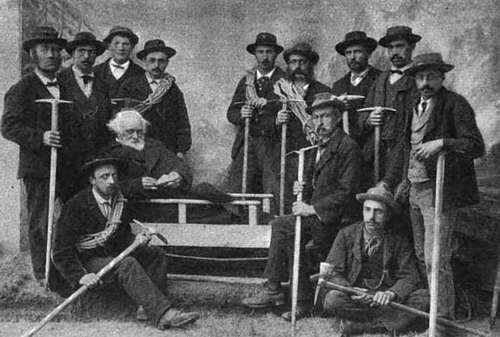 Janssen and his Guides—Janssen is Seated in the Sled