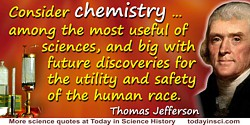 Thomas Jefferson quote Chemistry … among the most useful of sciences