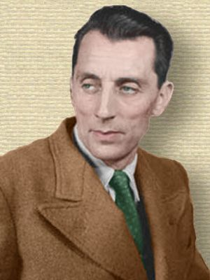 Photo of Frederic Joliot-Curie - head and shoulders