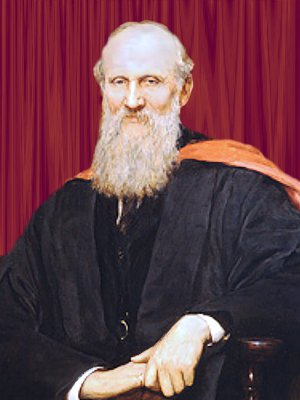 Detail from portrait of Lord Kelvin, upper body, seated by artist Sir Hubert von Herkomer