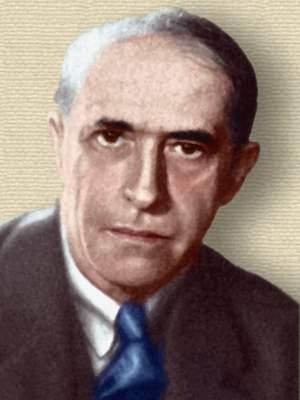 Photo of Kurt Koffka - head and shoulders. Colorization © todayinsci.com