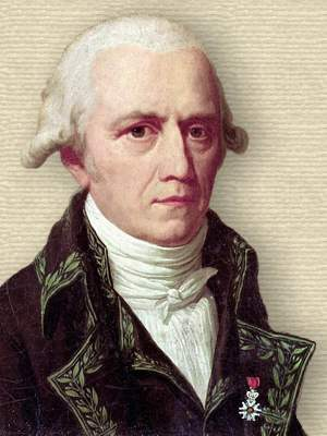 Portrait of Jean-Baptiste Lamarck, head and shoulders facing half right<br><small>artist Charles Thévenin</small>