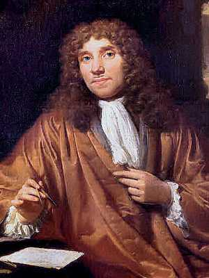 Anthonie van Leeuwenhoek - Detail from portrait by Jan Verkolje - upper body
