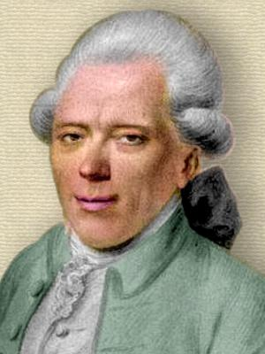 Engraving of Georg Christoph Lichtenberg - head and shoulders - colorization © todayinsci.com