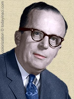 J.C.R. Licklider - head and shoulders. Colorization © todayinsci.com