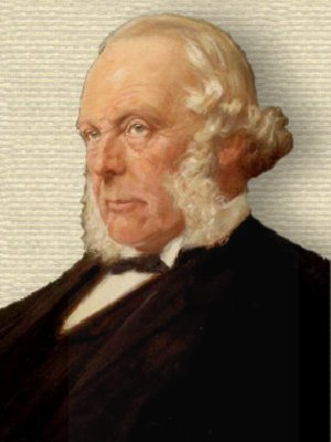 Portrait of Baron Joseph Lister, head and shoulders, facing left