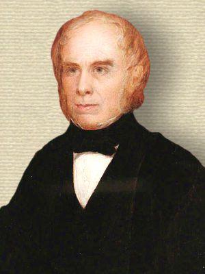 William MacGillivray in academic robes - upper body, facing slightly left