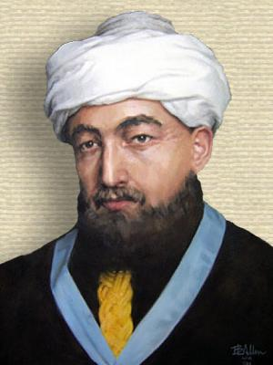 Painting of Maimonides - head and shoulders
