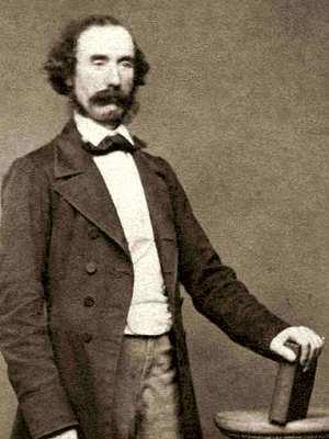 """Robert Mallet, """"Father of Seismology"""" - standing, upper body"""