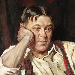 Painting of H.L. Mencken - head and shoulders