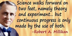 Robert Andrews Millikan quote Science walks forward on two feet