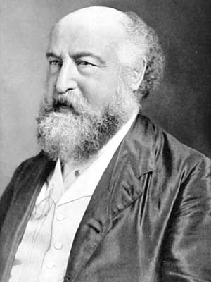 Photo of Ludwig Mond, late in life, upper body, facing left