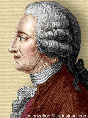 Engraving of Jacques Etienne Montgolfier - side view, head and shoulders - colorization © todayinsci.com