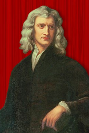 Portrait of Isaac Newton - upper body