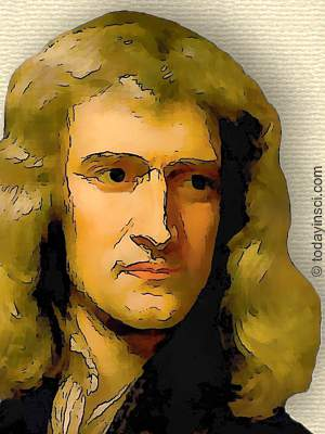 Cartoonized image - head of of Isaac Newton