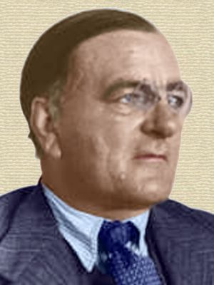 Photo of Paul Niggli - head and shoulders - colorization © todayinsci.com