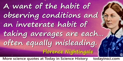 Florence Nightingale quote: Let people who have to observe sickness and death look back and try to register in their observation