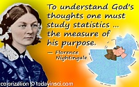 Florence Nightingale quote Study statistics
