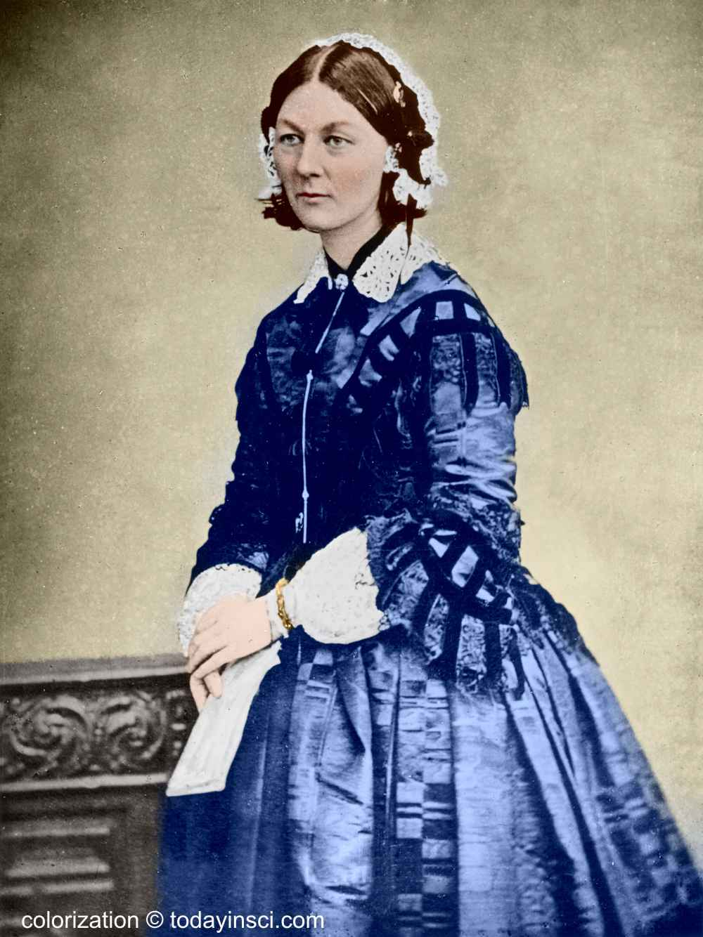 Florence Nightingale - Full length picture colored