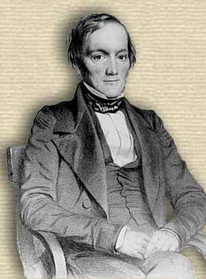 Photo of Richard Owen, seated, upper body, facing slightly right