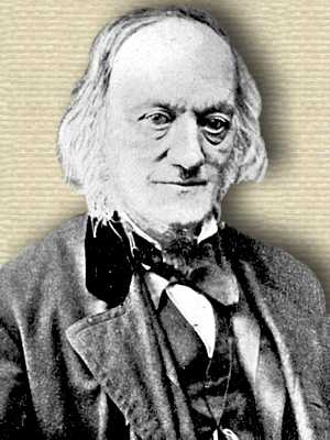 Photo of Richard Owen, elderly head and shoulders, facing slightly right