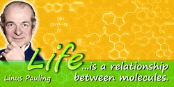 Linus Pauling quote: Life ... is a relationship between molecules.
