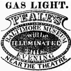 Peale's Museum Gas Illumination Advertisement