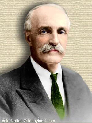 Gifford Pinchot - head and shoulders facing front - colorization © todayinsci.com