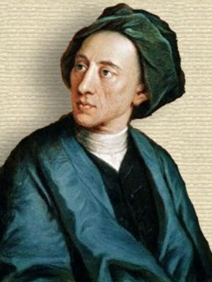 Portrait of Alexander Pope, head and shoulders, facing left.