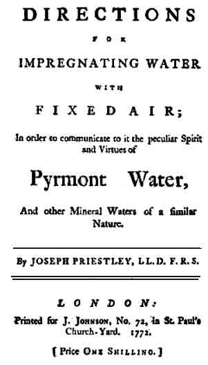 Title page of Impregnating Water with Fix Air
